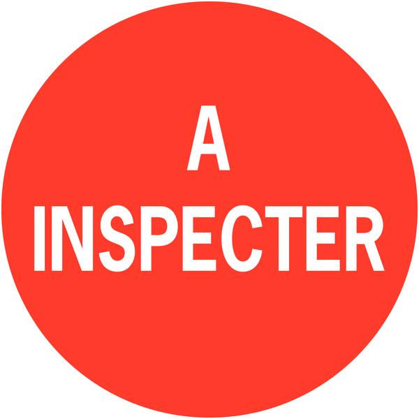 Pastilles d'inspection adhésives à texte A inspecter