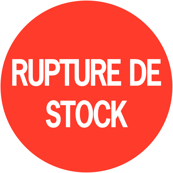 Pastilles d'inventaire permanentes à texte Rupture de stock