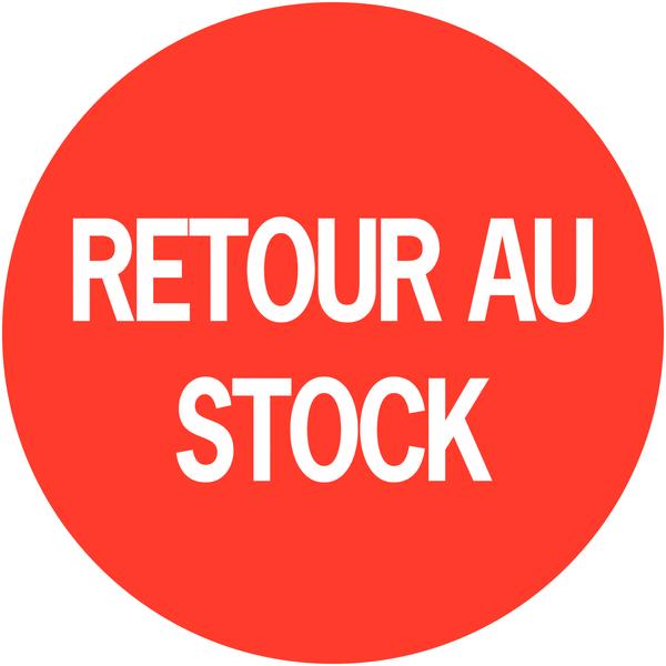Pastilles adhésives permanentes à texte Retour au stock