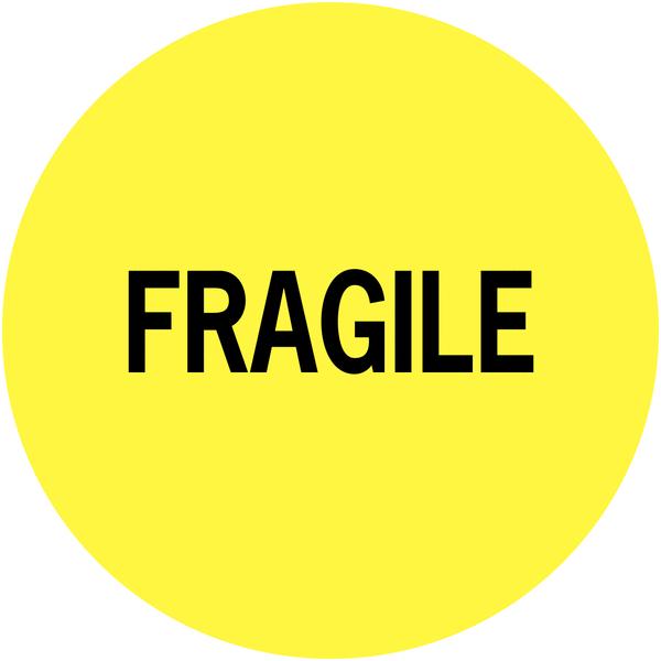 Etiquettes de colisage avec adhésif permanent Fragile