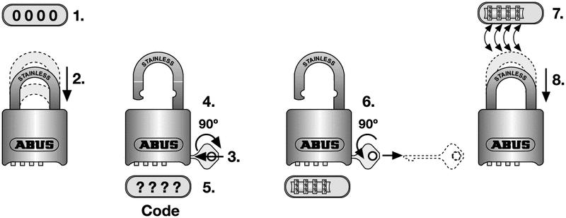 Cadenas programmable en laiton ABUS - Cadenas de sécurité
