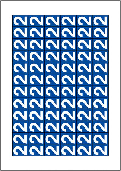 Chiffres et lettres adhésifs en PVC par coffret de 116 planches