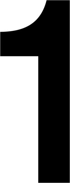 Chiffres adhésifs pour le marquage des plots magnétiques carrés