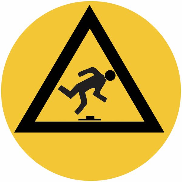 Marquage de sécurité au sol Danger de trébuchement