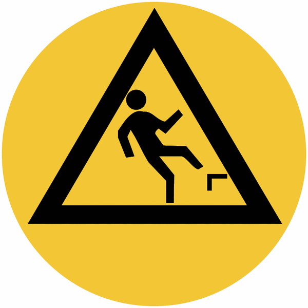 Marquage de sécurité au sol Danger de chute en arrière