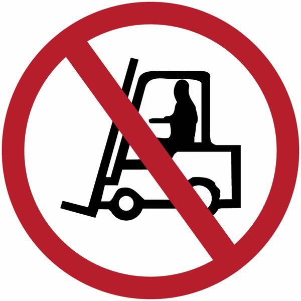 Marquage de sécurité au sol Interdit aux véhicules de manutention