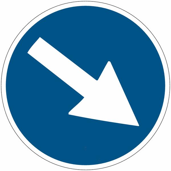 Marquage de sécurité au sol Flèche directionnelle orientable