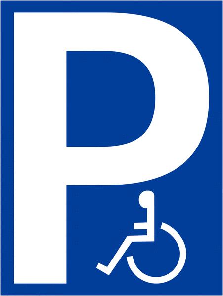 Pochoir synthétique pour marquage au sol Parking handicapés