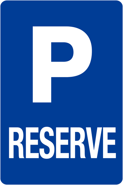 Kit pour butées de parking: 1 poteau + panneau Parking réservé - Panneaux de parking bleus