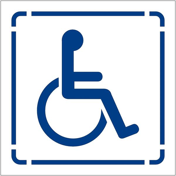 Pochoir en polypropylène pour marquage au sol et mural Handicapé