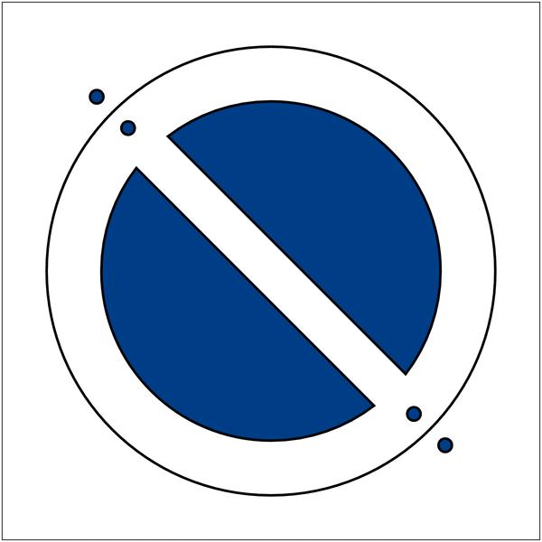 Prix Spécial - Kit pochoir et peintures symbole Stationnement interdit - Seton
