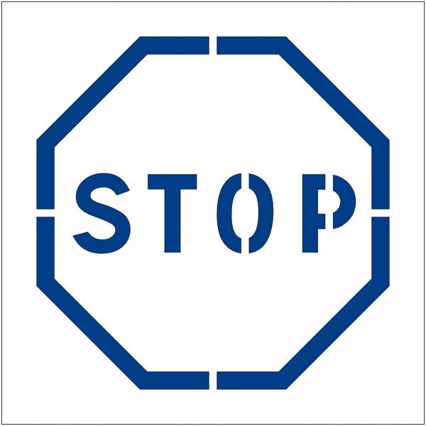 Pochoir en polypropylène pour marquage au sol et mural Stop