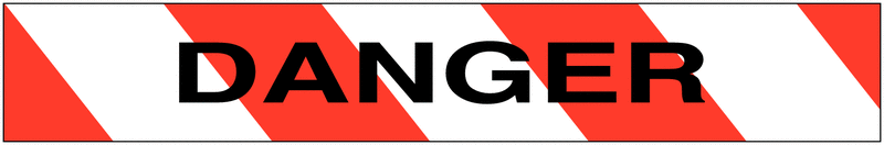 Ruban de signalisation biodégradable rayé avec texte