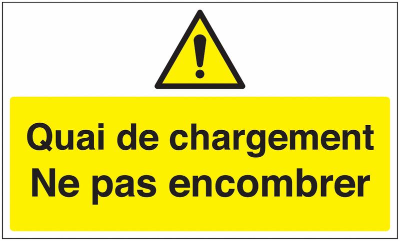 Marquage au sol avec texte et pictogramme - Quai de chargement - W001