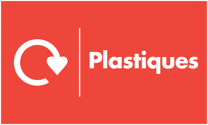 Marquage au sol recyclage - Plastiques
