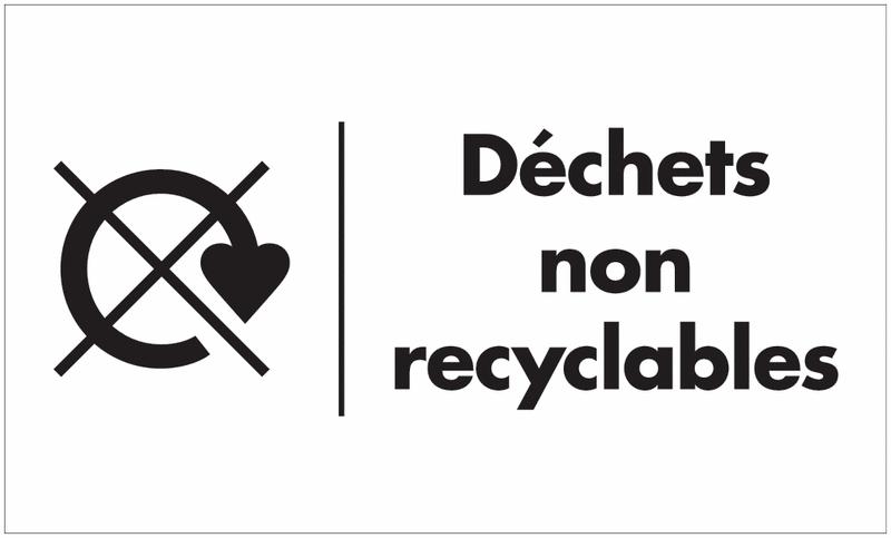 Marquage au sol recyclage - Déchets non recyclables