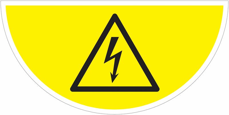 Marquage au sol avec pictogrammeDanger électriqueW012
