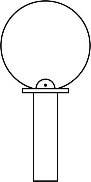 Poteau de fixation pour signalisation en flèche FLTB - Seton