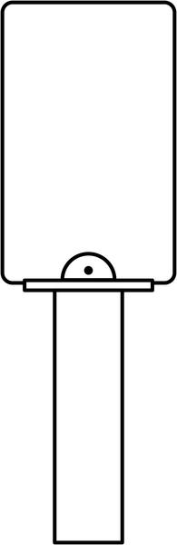 Poteau de fixation pour signalisation en flèche FLTB - Fixation panneaux et pictogrammes