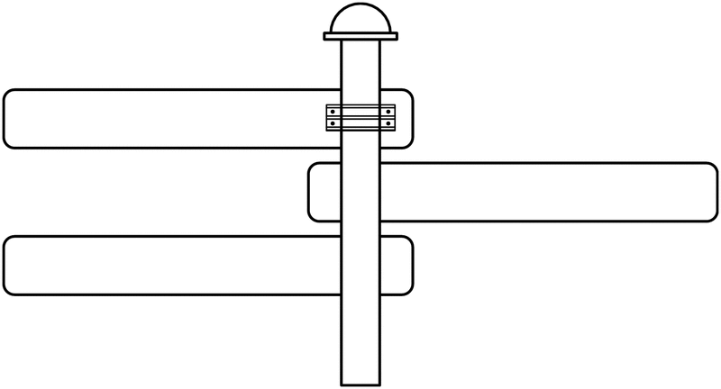 Poteau de fixation pour signalisation en flèche FLTB