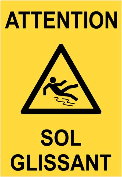 Chevalet de signalisation attention sol glissant - Maintenance et entretien courant des sites