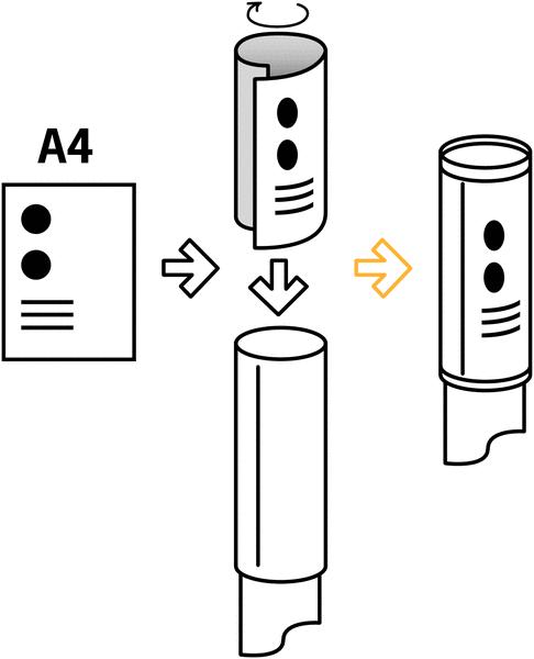 Panneau d'information en forme de tube pour poteaux à sangle étirable - Seton