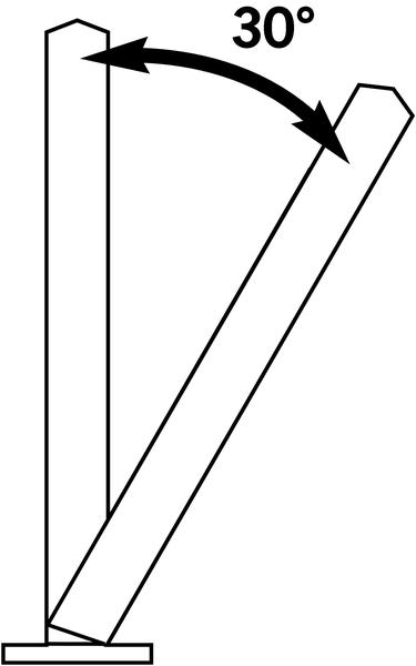 Poteau de voirie flexible à 30° à bandes réfléchissantes - Seton