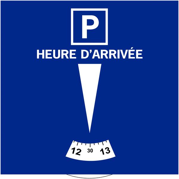 Disque de stationnement Français