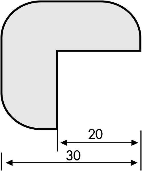Lot de 4 profilés de protection en mousse polyuréthane blanche (3+1 gratuit) - Seton