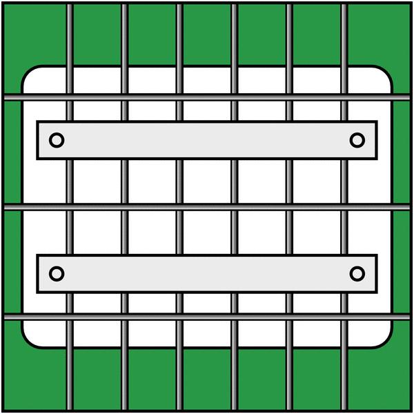 Ferrure de fixation sur grille pour panneaux - Seton