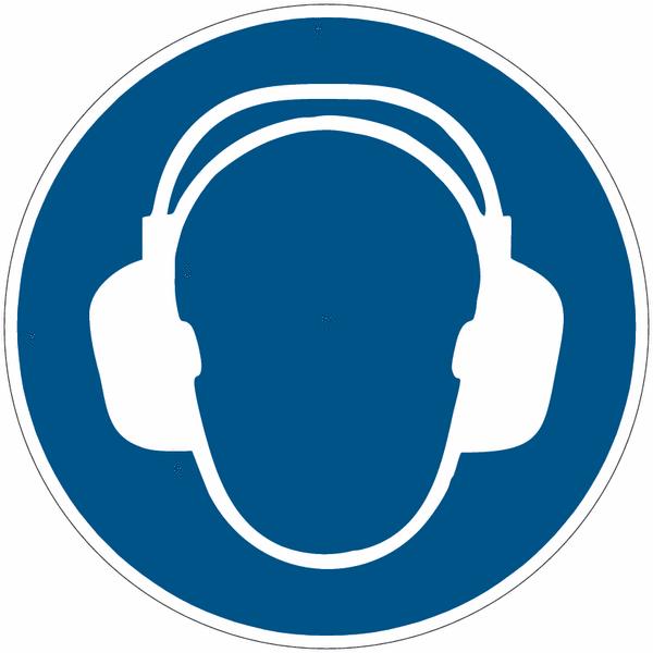 Chevalet de signalisation Serre-tête antibruit obligatoire - M003 - Seton
