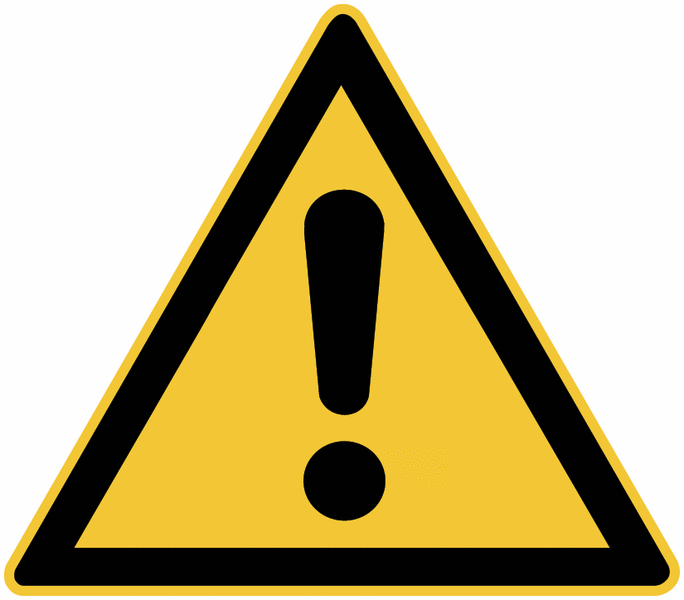 Chevalets de signalisation Danger général - W001 - Seton