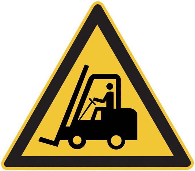 Chevalet de signalisation danger: Chariots élévateurs et autres véhicules industriels - W014 - Seton