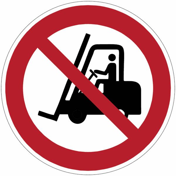 Chevalet de signalisation interdit aux chariots élévateurs à fourche et autres véhicules industriels - P006 - Seton