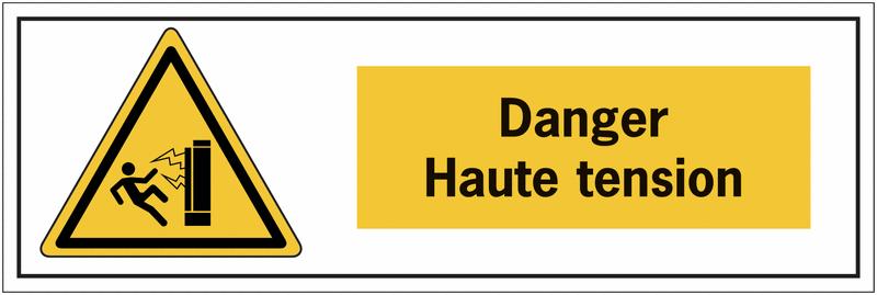 Panneau de danger électrique - Danger haute tension