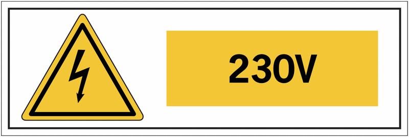 Panneau de danger électrique Danger électricité - 230 V