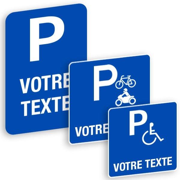 Panneaux  de signalisation « Places de parking » à personnaliser - Panneaux industriels personnalisés