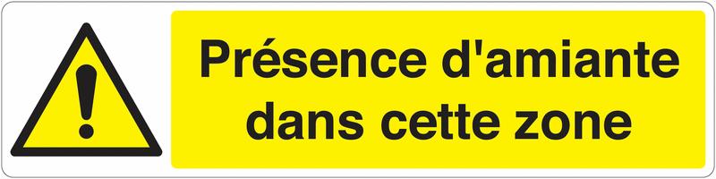 Marquage au sol pour barrière visuelle - Danger général - W001