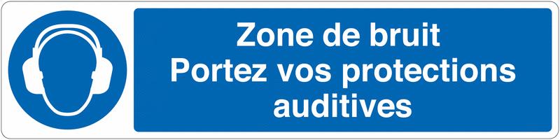 Marquage au sol pour barrière visuelle - Protections auditives obligatoires - M003