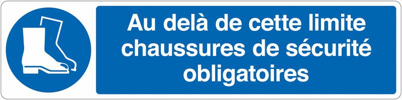 Marquage au sol pour barrière visuelle - Chaussures de sécurité obligatoires- M008