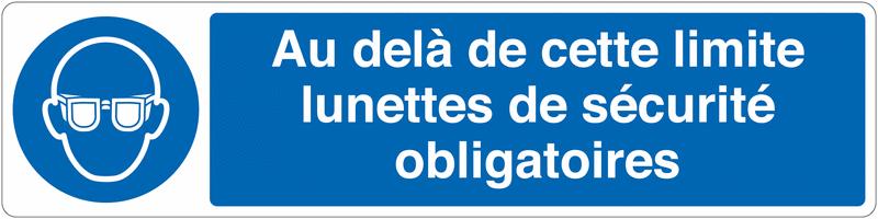 Marquage au sol pour barrière visuelle - Lunettes obligatoires-M004