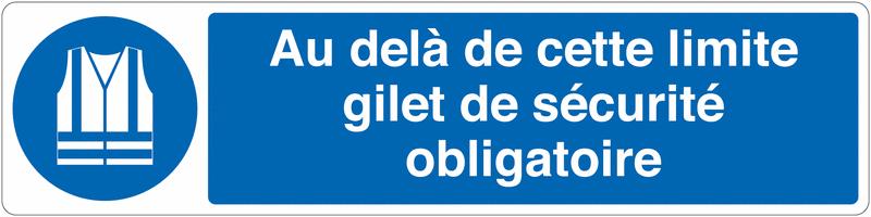 Marquage au sol pour barrière visuelle - Gilet de sécurité - M015