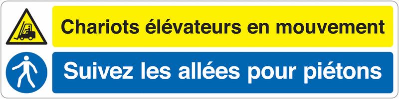 Marquage au sol pour barrière visuelle - Chariots élévateurs en mouvement Suivre les allées pour piétons - W014 M024