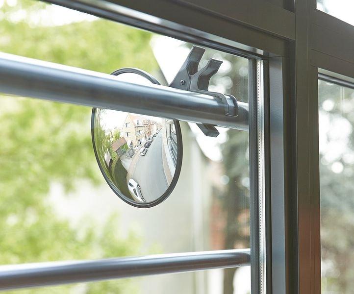 Miroir mobile à pince - Sécurite en entreprise et Contrôle d'accès