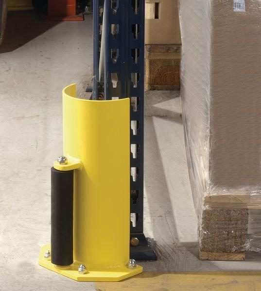 Protection pour rack arrondie avec roulette de guidage - Protections pour racks de stockage et rayonnages