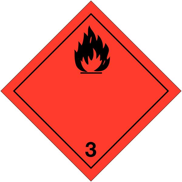 Etiquettes de transport international Liquides inflammables à compléter