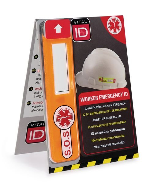 Etiquette d'identification en cas d'urgence - Accessoires pour casques de sécurité