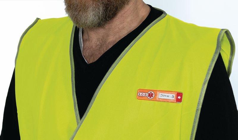 Etiquette d'identification en cas d'urgence