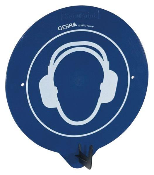 Crochet porte-EPI avec pictogramme Protection auditive obligatoire