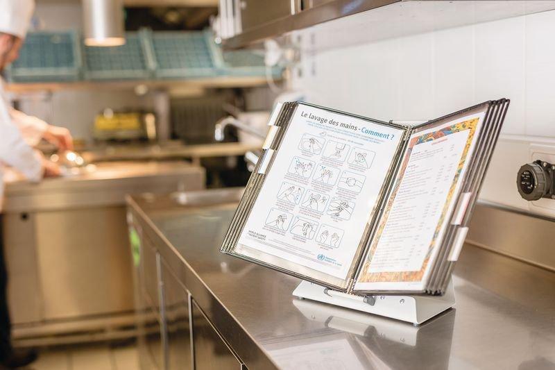 Pupitre antimicrobien 10 protège-documents A4 - Seton